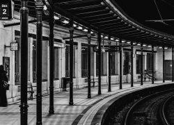 Vienna Streetcar Station Gumpendorfer Strasse BW