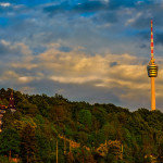 Stuttgart TV-Tower at sunset